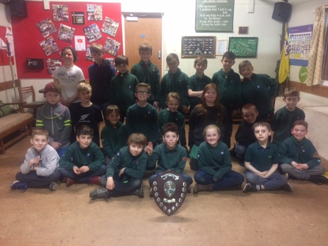 3rd Exmouth Cubs - Winners of the 2017 Swimming Gala