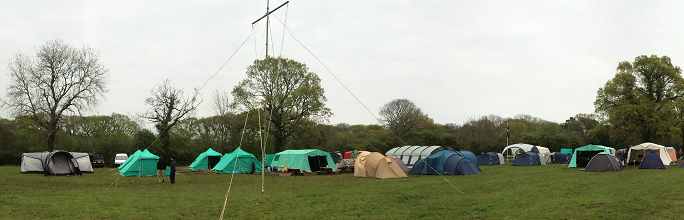 Woodjam 2014 - View of part of the field